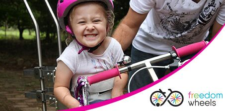 Join the Freedom Wheelers and help give a child with a disability their very first bike